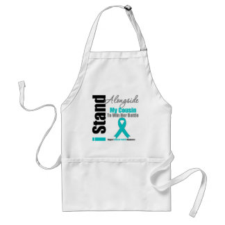 Ovarian Cancer I Stand Alongside My Cousin Standard Apron