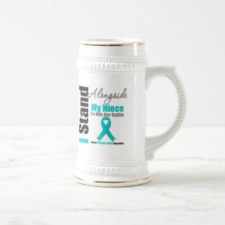 Ovarian Cancer I Stand Alongside My Niece Mugs