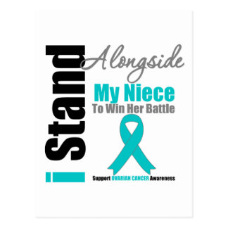 Ovarian Cancer I Stand Alongside My Niece Postcard