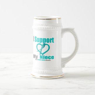 Ovarian Cancer I Support My Niece Beer Steins