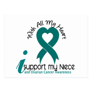 Ovarian Cancer I Support My Niece Postcard