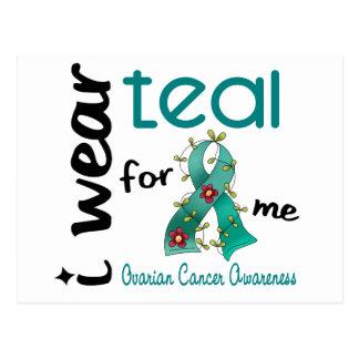 Ovarian Cancer I WEAR TEAL FOR ME 43 Postcard
