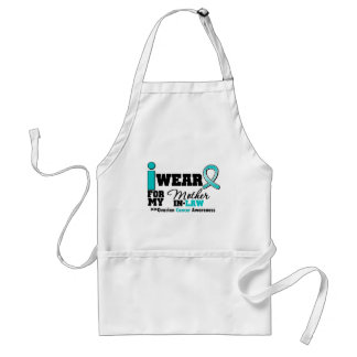 Ovarian Cancer I Wear Teal For My Mother-in-Law Apron