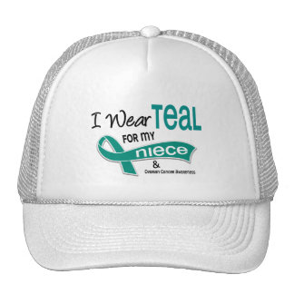 Ovarian Cancer I WEAR TEAL FOR MY NIECE 42 Hat