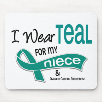 Ovarian Cancer I WEAR TEAL FOR MY NIECE 42 Mouse Pad
