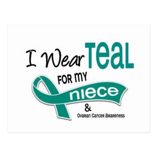 Ovarian Cancer I WEAR TEAL FOR MY NIECE 42 Postcard