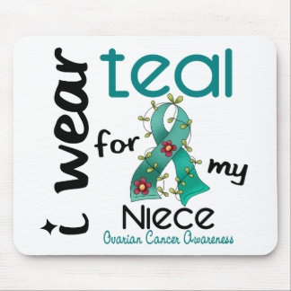 Ovarian Cancer I WEAR TEAL FOR MY NIECE 43 Mouse Mat