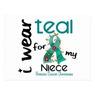 Ovarian Cancer I WEAR TEAL FOR MY NIECE 43 Postcard