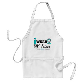 Ovarian Cancer I Wear Teal For My Niece Standard Apron
