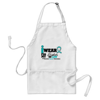 Ovarian Cancer I Wear Teal For My Sister-in-Law Adult Apron