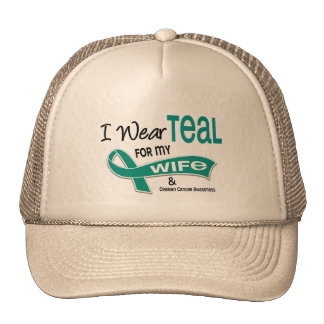 Ovarian Cancer I WEAR TEAL FOR MY WIFE 42 Cap