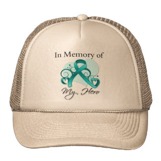 Ovarian Cancer In Memory of My Hero Mesh Hats
