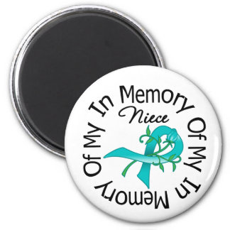 Ovarian Cancer In Memory of My Niece 6 Cm Round Magnet