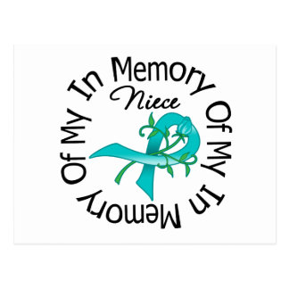 Ovarian Cancer In Memory of My Niece Postcard
