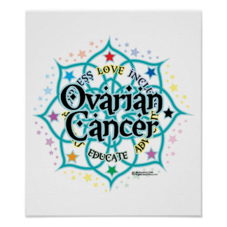 Ovarian Cancer Lotus Poster
