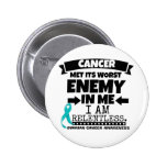 Ovarian Cancer Met Its Worst Enemy in Me 6 Cm Round Badge