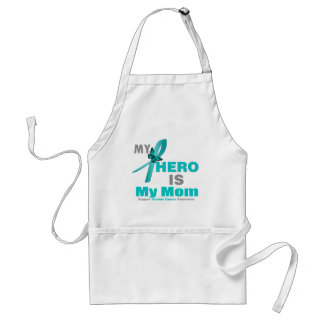 Ovarian Cancer My Hero is My Mom Adult Apron