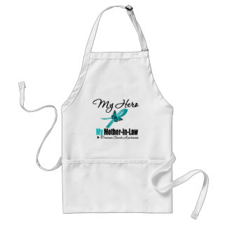 Ovarian Cancer My Hero My Mother-in-Law Adult Apron