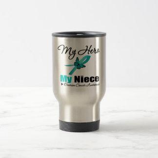 Ovarian Cancer My Hero My Niece Coffee Mugs