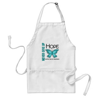 Ovarian Cancer Never Give Up Hope Butterfly 4.1 Standard Apron