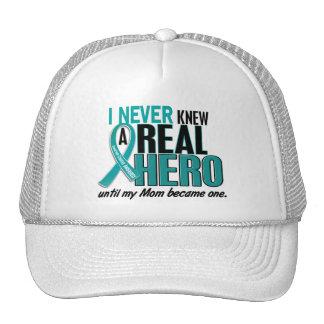 Ovarian Cancer NEVER KNEW A HERO 2 Mom Cap