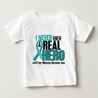 Ovarian Cancer NEVER KNEW A HERO 2 Mommy Baby T-Shirt