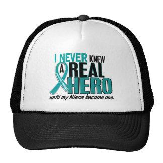 Ovarian Cancer NEVER KNEW A HERO 2 Niece Cap
