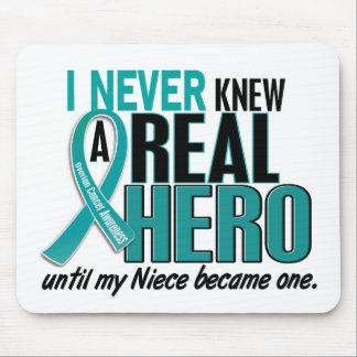 Ovarian Cancer NEVER KNEW A HERO 2 Niece Mouse Mat