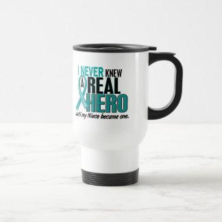 Ovarian Cancer NEVER KNEW A HERO 2 Niece Coffee Mug