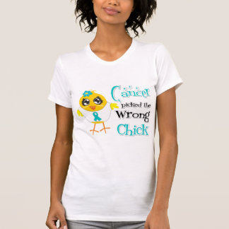 Ovarian Cancer Picked The Wrong Chick Tee Shirt