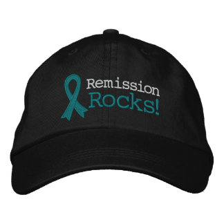 Ovarian Cancer Remission Rocks Embroidered Hat