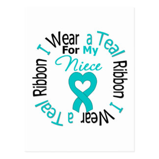 Ovarian Cancer Ribbon For My Niece Postcard