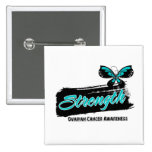 Ovarian Cancer Strength Butterfly 15 Cm Square Badge