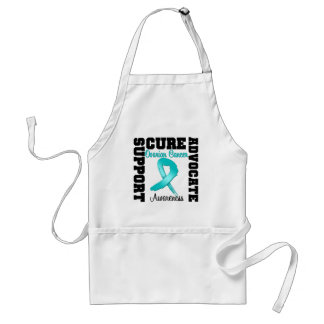 Ovarian Cancer Support Advocate Cure Adult Apron