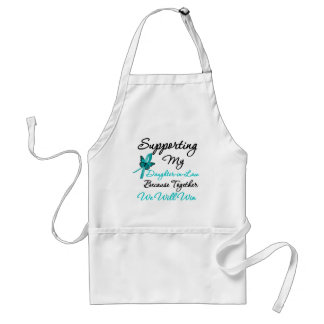 Ovarian Cancer Supporting My Daughter-in-Law Standard Apron