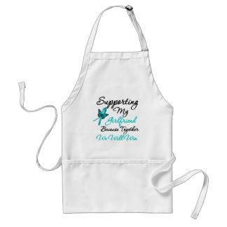 Ovarian Cancer Supporting My Girlfriend Standard Apron