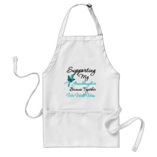Ovarian Cancer Supporting My Granddaughter Aprons