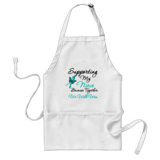 Ovarian Cancer Supporting My Niece Aprons
