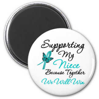 Ovarian Cancer Supporting My Niece Refrigerator Magnet
