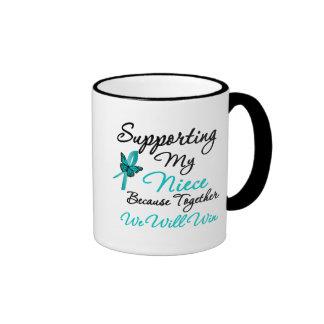 Ovarian Cancer Supporting My Niece Ringer Mug