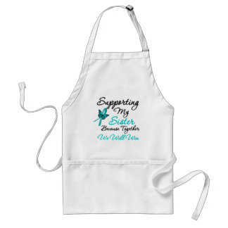 Ovarian Cancer Supporting My Sister Aprons