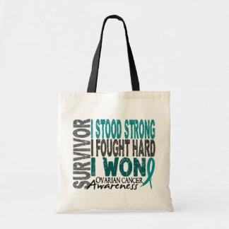 Ovarian Cancer Survivor 4 Budget Tote Bag