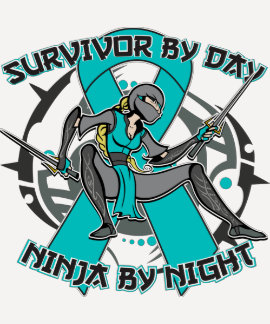 Ovarian Cancer Survivor By Day Ninja By Night T Shirts