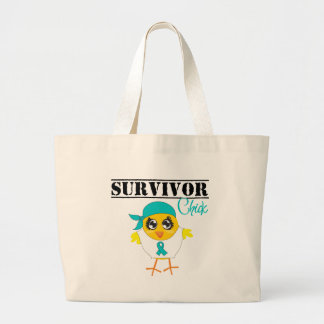Ovarian Cancer Survivor Chick Tote Bags