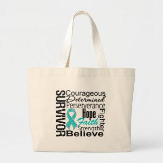 Ovarian Cancer Survivor Collage Jumbo Tote Bag