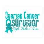 Ovarian Cancer Survivor Flower Ribbon Postcard
