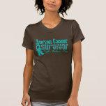 Ovarian Cancer Survivor Flower Ribbon T-shirt