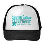 Ovarian Cancer Survivor Flower Ribbon Trucker Hat
