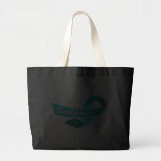 Ovarian Cancer Survivor Ribbon Jumbo Tote Bag