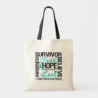 Ovarian Cancer Survivors Motto Tote Bags